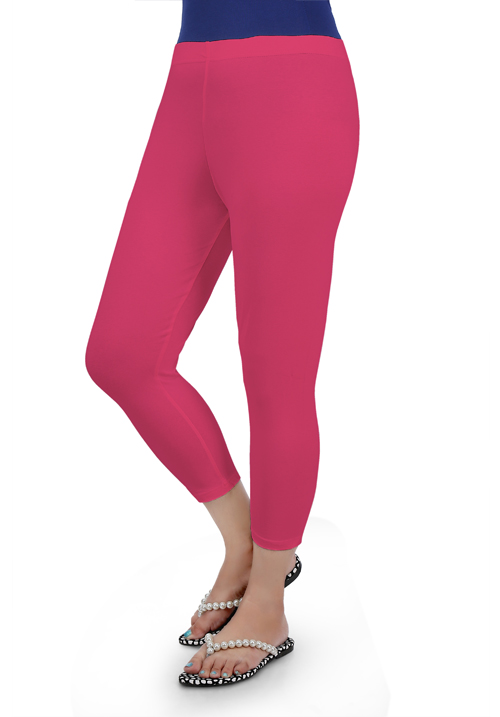 Femigo Bubblegum Pink Color Capri F-33