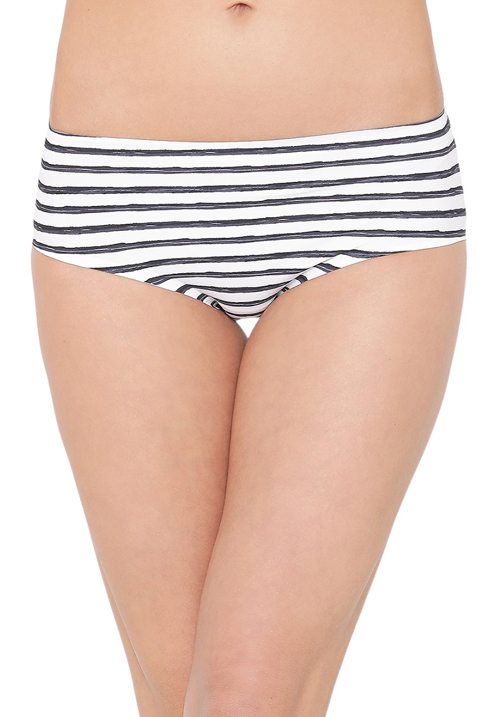 Clovia Striped No Panty Line Hipster Panty