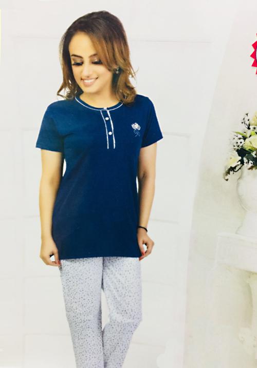 Dot and Print Payjama Night Suit PJ-271