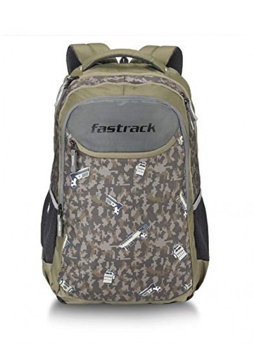 Fastrack 40 Ltrs Olive Casual Backpack (A0797NOL01)