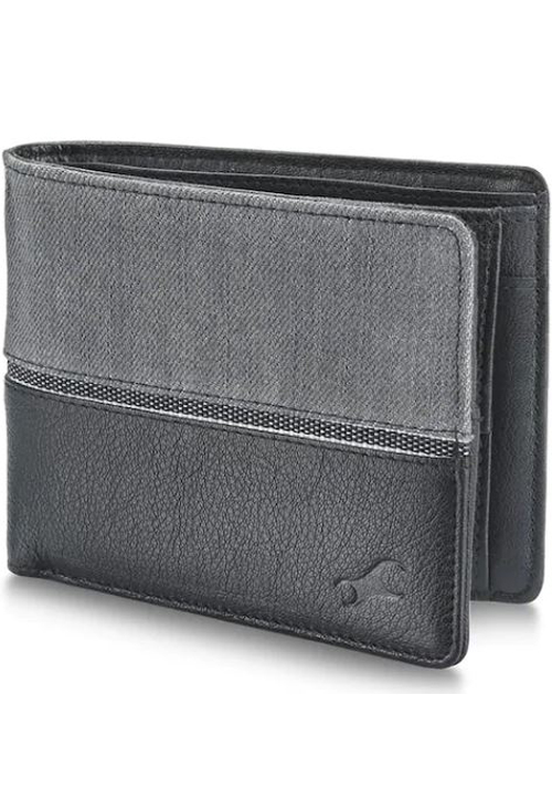 Fastrack Grey Leather Bifold Wallet