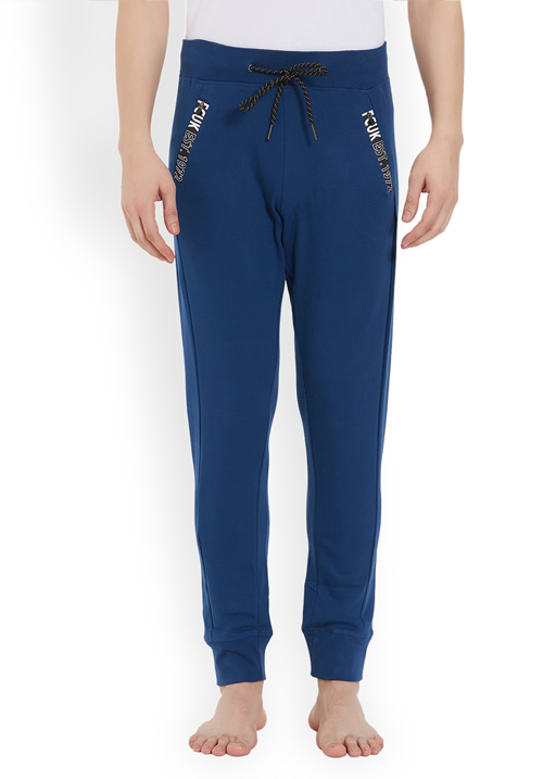 Fcuk Men Knit Pant Navy FKPA04