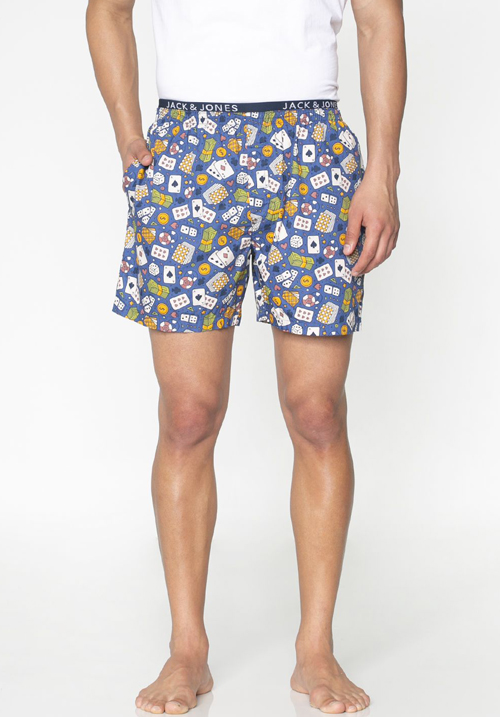Jack and Jones Poker Print Boxers