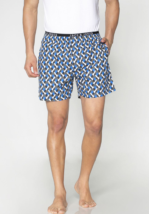 Jack & Jones Blue Printed Boxers