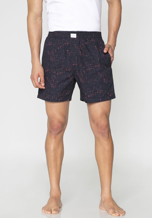 Jack & Jones Navy Blue Printed Boxers