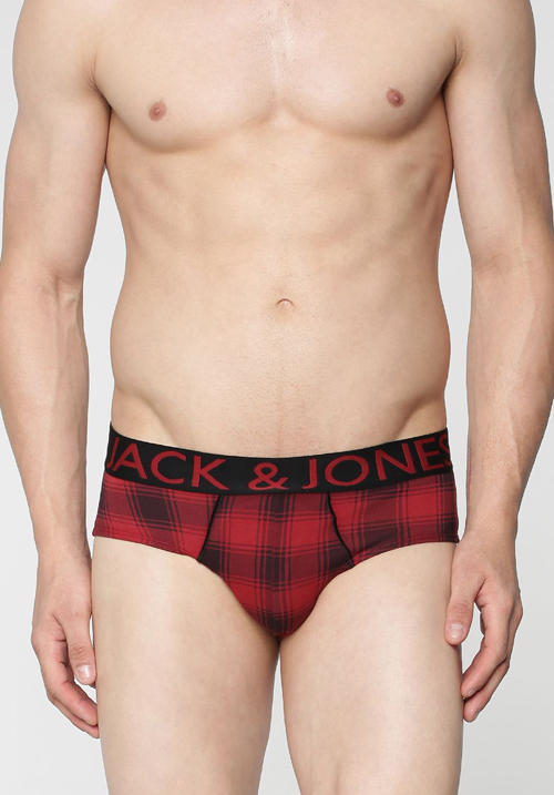 Jack & Jones Red Checks Brief