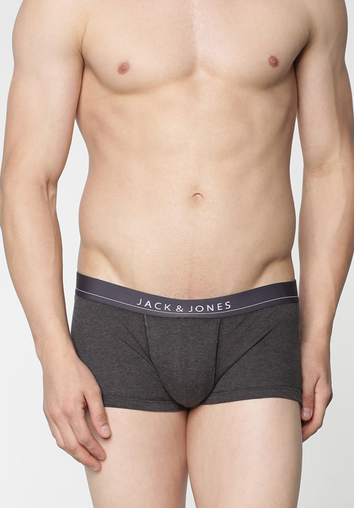 Jack & Jones Charcoal Solid Trunks