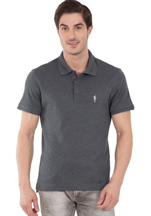 Jockey Polo T-Shirt Charcoal Melange 3912