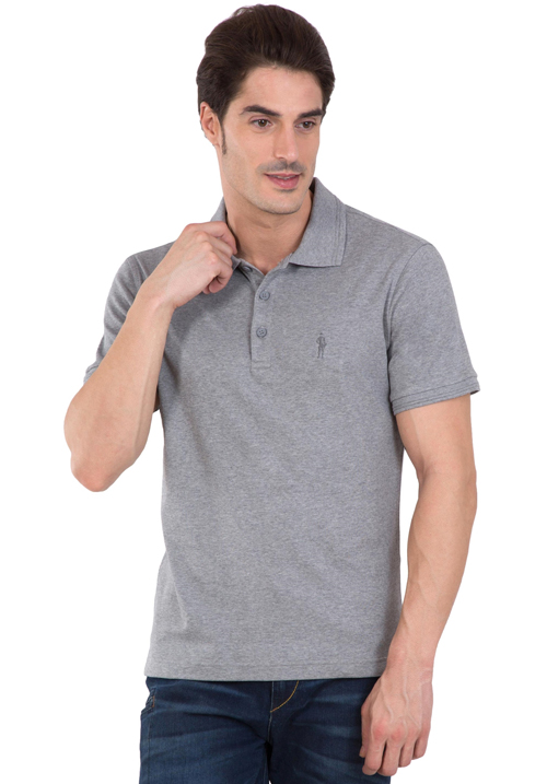 Jockey Polo T-Shirt Grey Melange 3912
