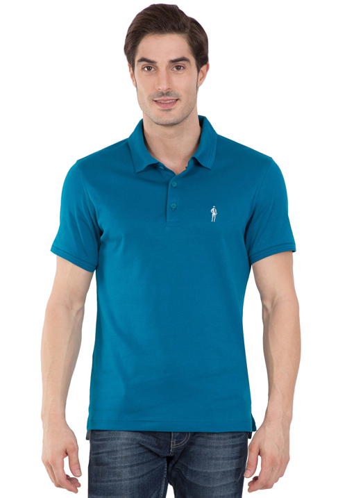 Jockey Polo T-Shirt Teal Blue 3912