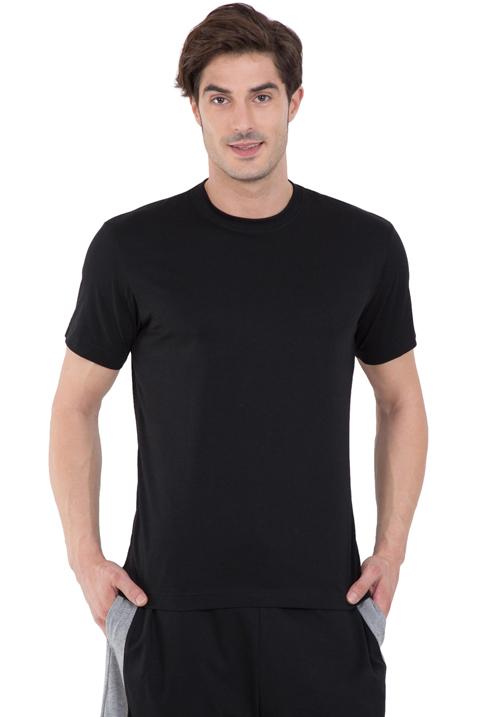 Jockey Round T-Shirt Black 2714