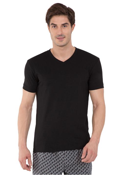 Jockey V-Neck T-Shirt Black 2726