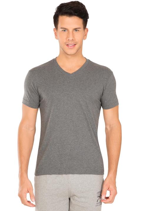 Jockey V-Neck T-Shirt Charcoal 2726