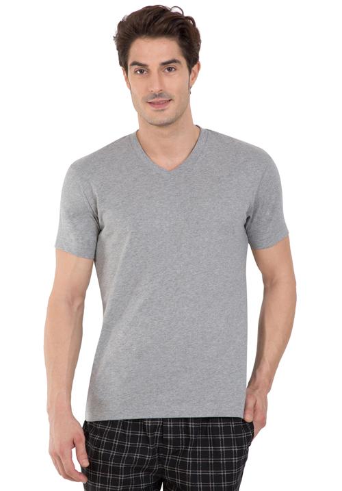 Jockey V-Neck T-Shirt Grey 2726