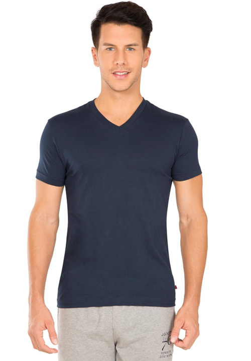 Jockey V-Neck T-Shirt Navy 2726