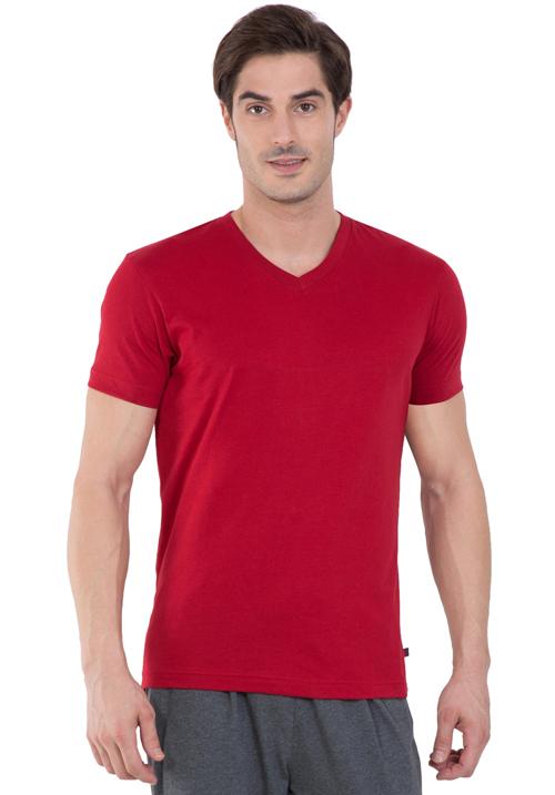 Jockey V-Neck T-Shirt Red 2726