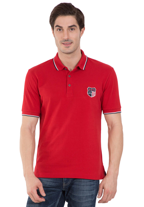 Jockey Wordly Red Polo T-Shirt 3912
