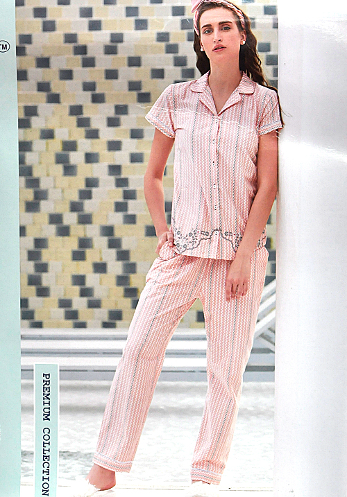 July Light Pink Lower Night Suit WPC155