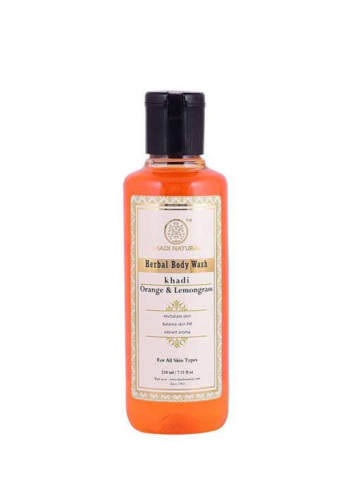Khadi Natural Orange And Lemongrass Herbal Body Wash
