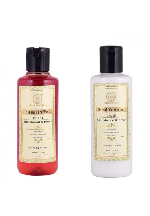 Khadi Natural Facewash and Mositurizer