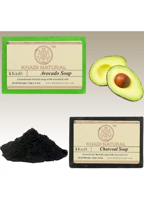 Khadi Avocado Charcoal Soap
