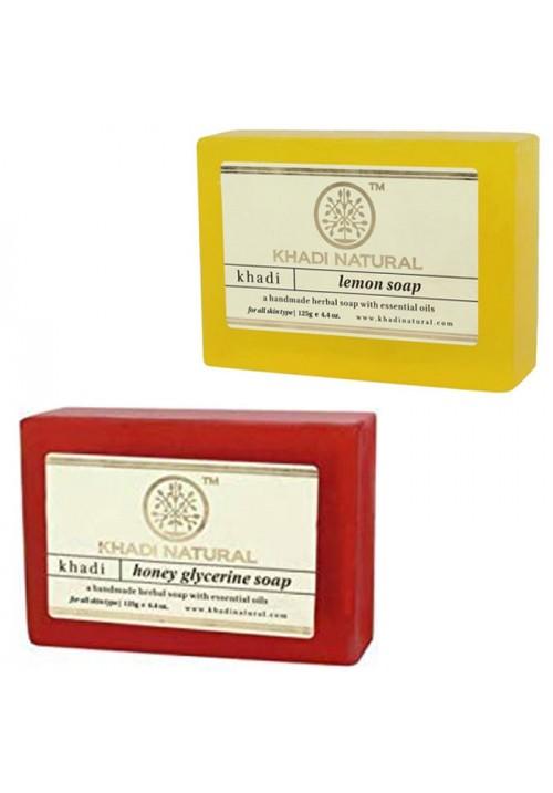 Khadi Natural Lemon and Honey Glycerine Soap