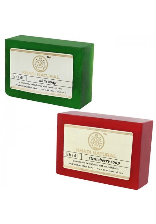 Khadi Natural Khus and Strawberry Soap