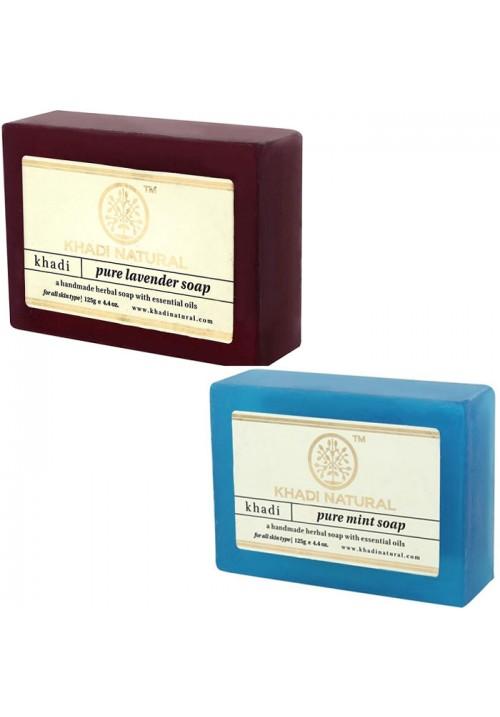Khadi Natural Pure Lavender and Mint Soap
