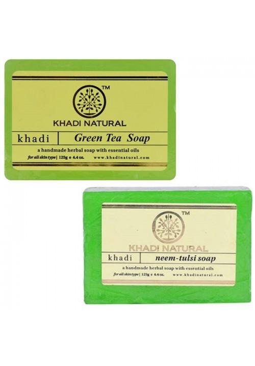 Khadi Natural Green Tea and Neem Tulsi Soap