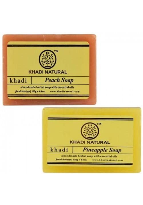 Khadi Natural Peach and Pineapple Soap
