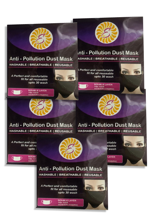 Anti- Pollution Dusk Mask Pack of 5