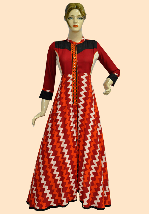 Anora Maroon-Skin One Piece Dress