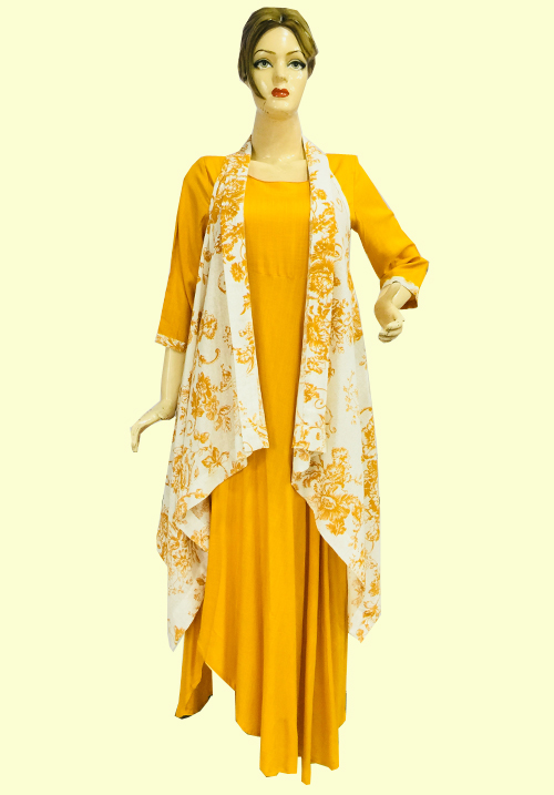 Anora Yellow Dress and Kurti