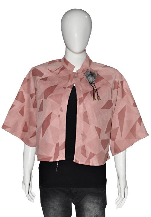 Essentials Woolen Ponchu Pink 5-1117