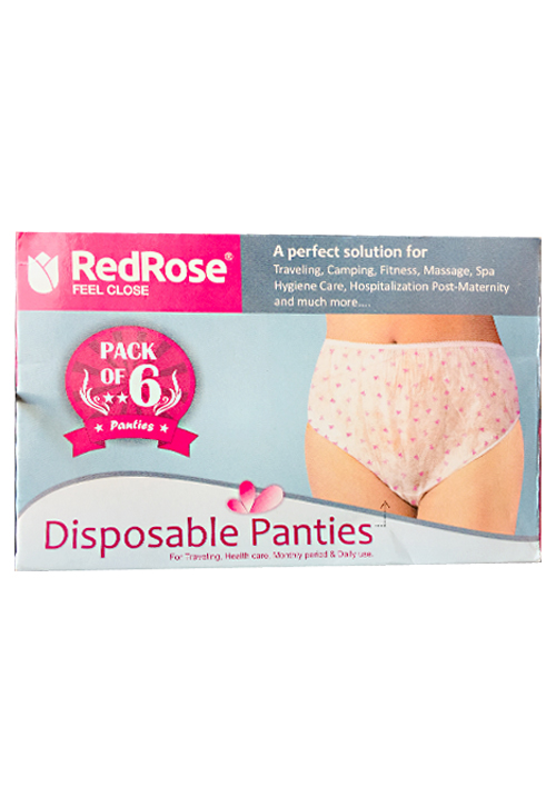 Redrose Disposable 6 Panties Pack