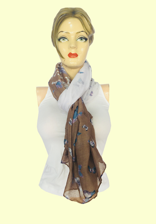 ModaElementi Printed Brown Scarf