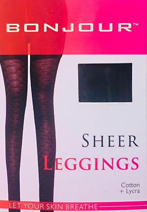Bonjour Black Plain Stocking Leggings
