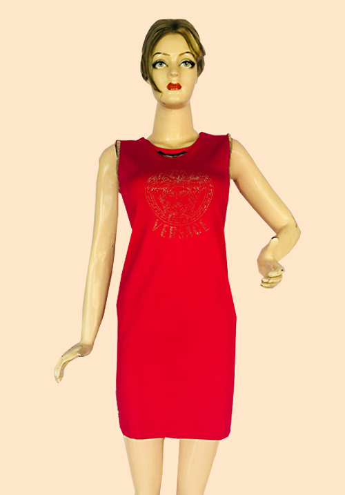 Versace Tomato Red Tunics