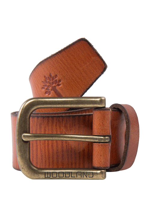 Woodland Leather Belt Color Tan