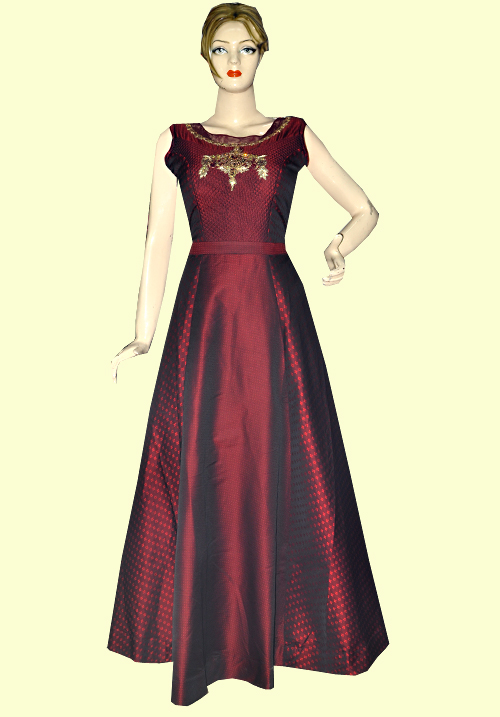 Zola Party Gown Maroon 910301