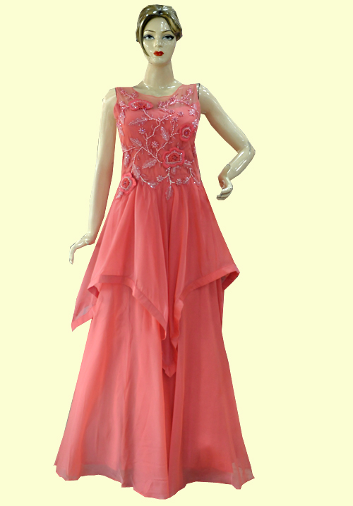 Zola Party Gown Peach 918554