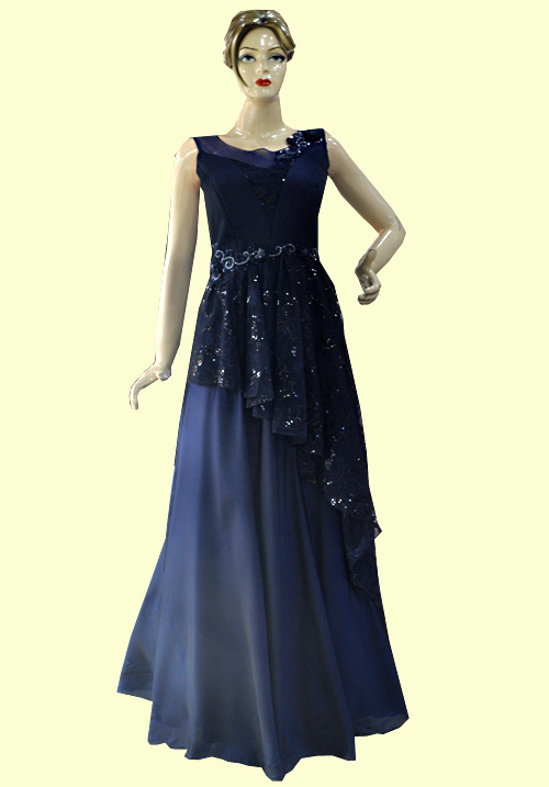 Zola Party Gown Navy Blue 918557